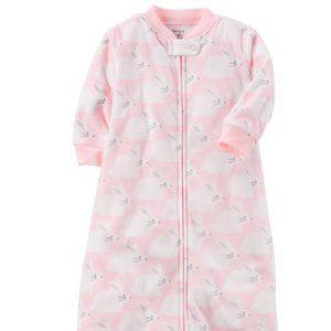 Carters pink bunny Microfleece Sleep Bag - Medium